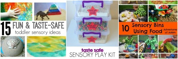 Adventures of Adam edible sensory bins