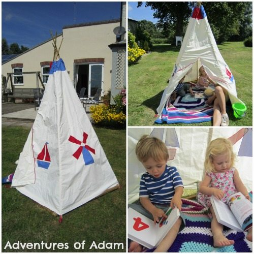 Adventures of Adam Handmade Teepee
