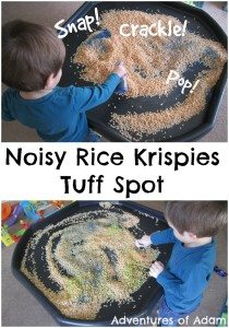 Noisy Rice Krispies Tuff Spot Adventures of Adam
