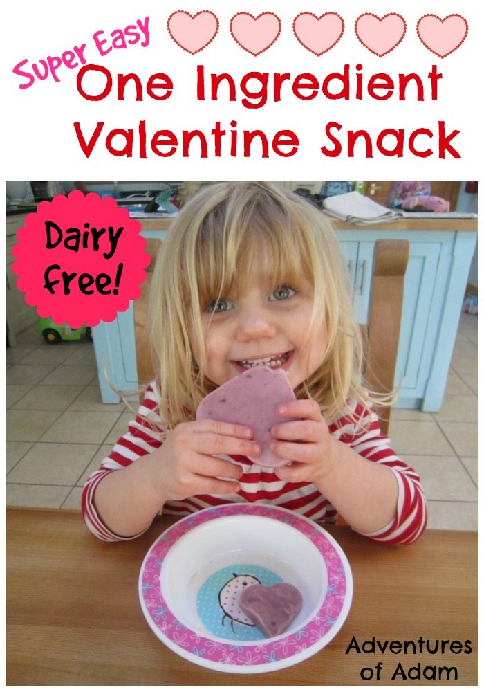 One Ingredient Valentine Snack