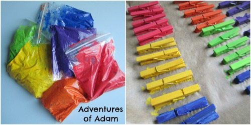 Adventures of Adam Painting clothespins