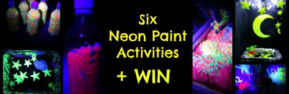 Six Neon Paint Activities + Competiton