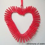 Adventures of Adam Valentine clothespin heart