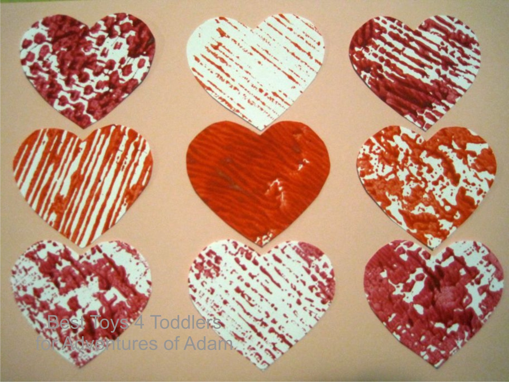 Adventures of Adam printed hearts using wallpaper