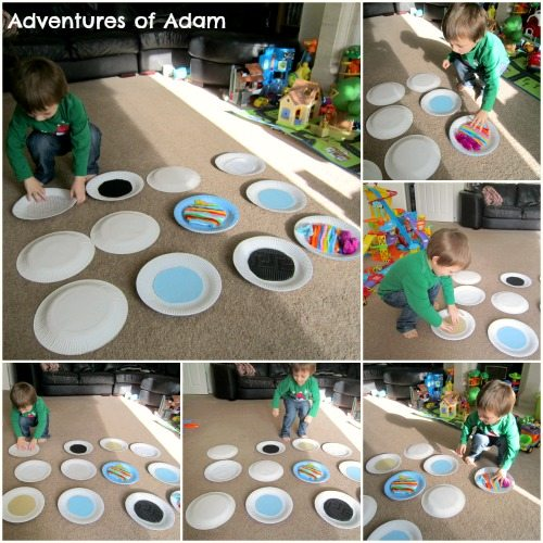 Adventures of Adam sense of touch toddler play activity