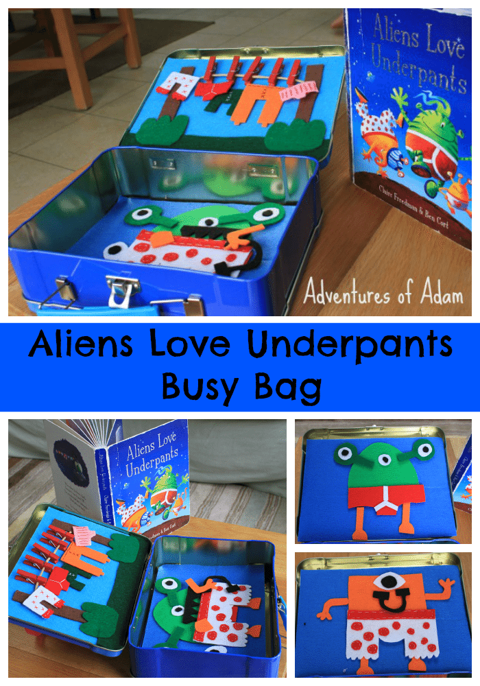 Adventures of Adam Aliens Love Underpants Busy Bag