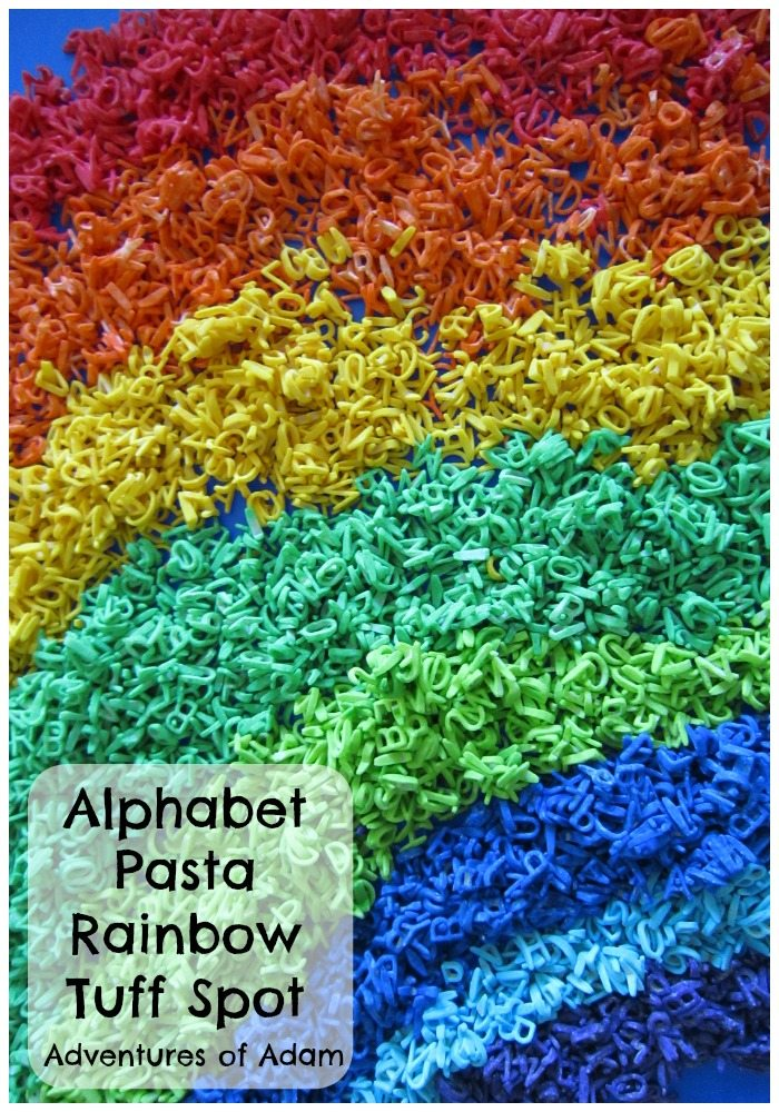 Alphabet Pasta Rainbow Tuff Spot Adventures of Adam