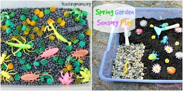 Black base sensory bins