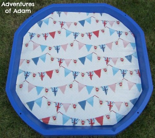Adventures of Adam Bunting flags DIY Tuff Spot Mat