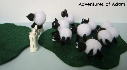 Adventures of Adam Counting sheep toddler activity