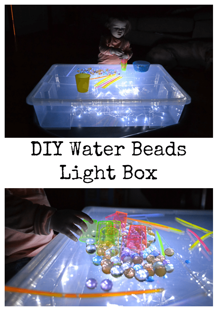 diy water beads light box. Black Bedroom Furniture Sets. Home Design Ideas