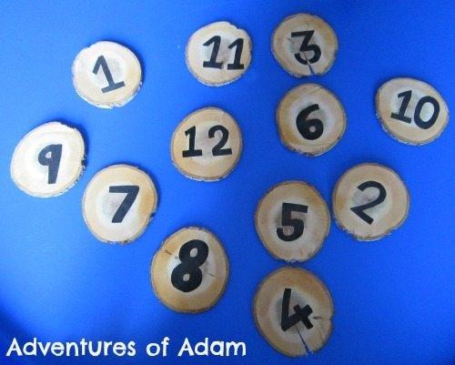 Adventures of Adam DIY wooden numbers