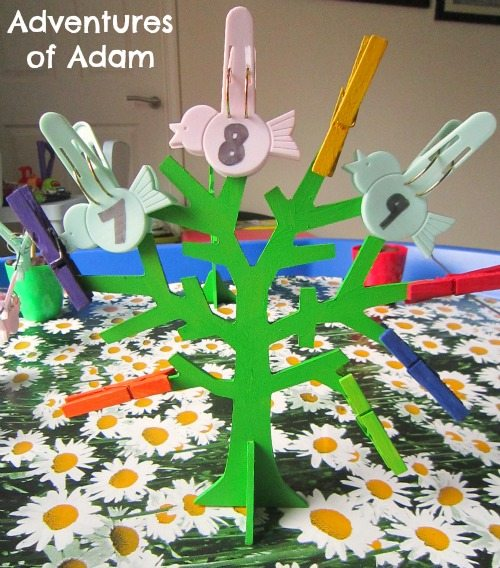 Adventures of Adam Fine motor skills with pegs