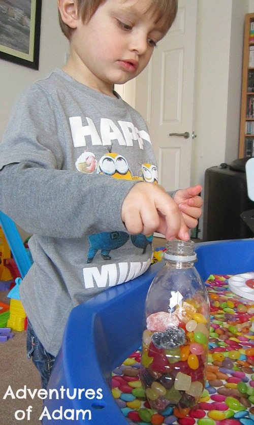 Adventures of Adam Fine motor skills with sweets