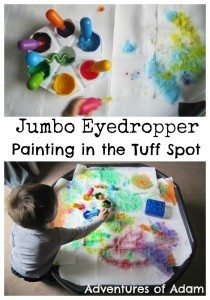 Adventures of Adam Jumbo Eyedropper painting in the tuff spot