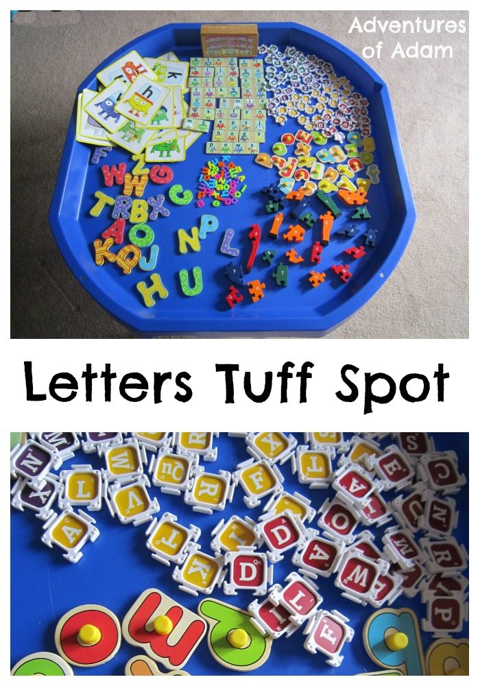 Adventures of Adam Letters Tuff Spot A-Z Challenge