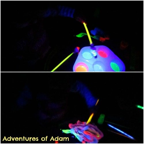 Adventures of Adam Neon Glow Stick Painting