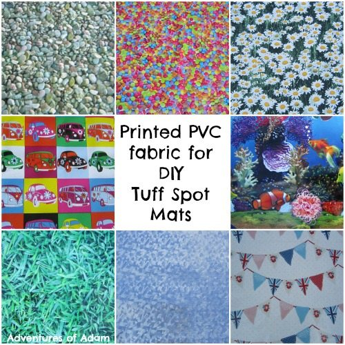 Adventures of Adam Printed PCV fabric for DIY Tuff Spot Mats