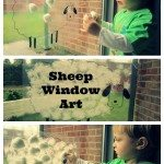 Sheep Window Art