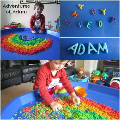 Adventures of Adam Toddler letter recognition