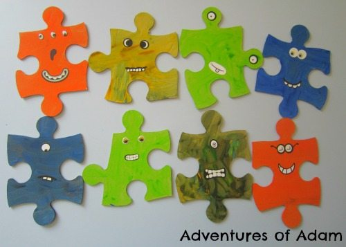 Adventures of Adam Alien Puzzle Pieces