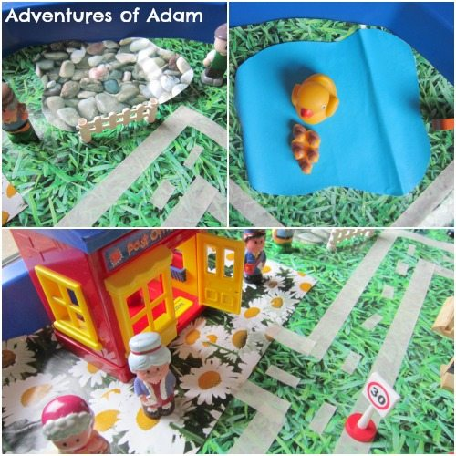 Adventures of Adam DIY Tuff Spot mats in use