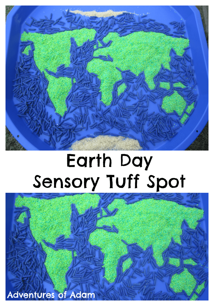 Adventures of Adam Earth Day Sensory Tuff Spot