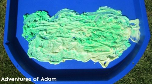 Adventures of Adam Green shaving foam hills