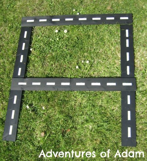Adventures of Adam Letter A car track