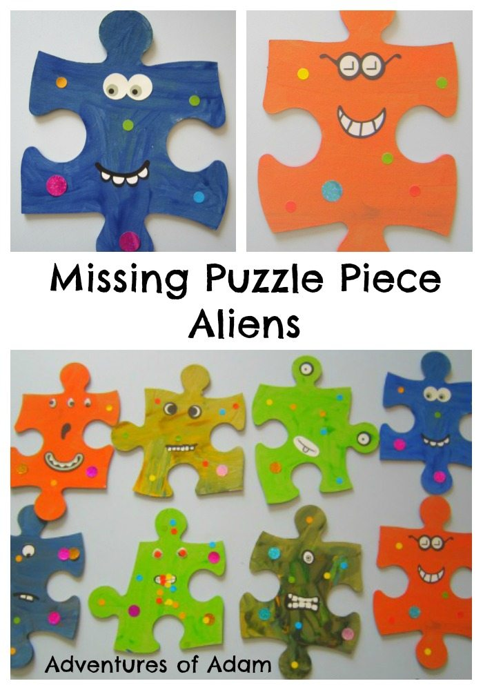Adventures of Adam Missing Puzzle Piece Aliens