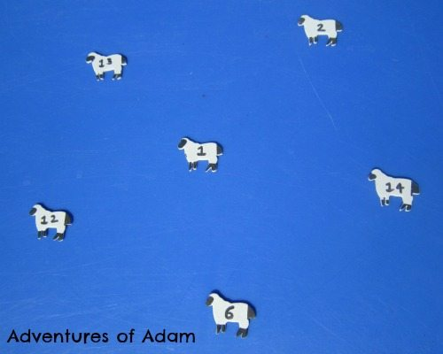 Adventures of Adam Numbered sheep stickers