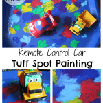 Adventures of Adam Remote Control Car Tuff Spot Painting no mess