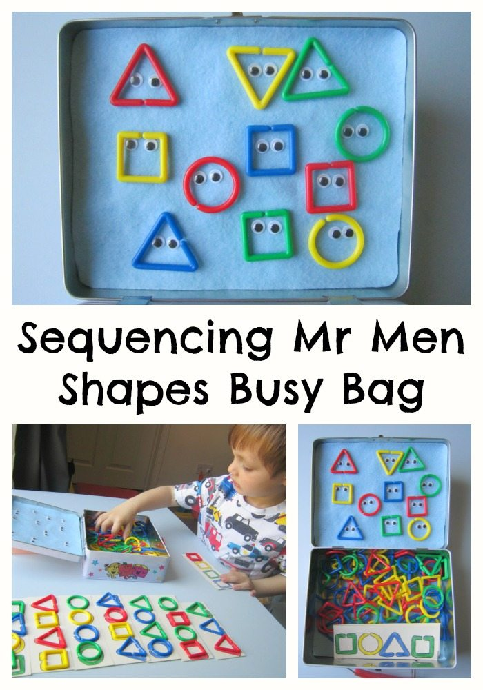 Mr Men Shapes Busy Bag