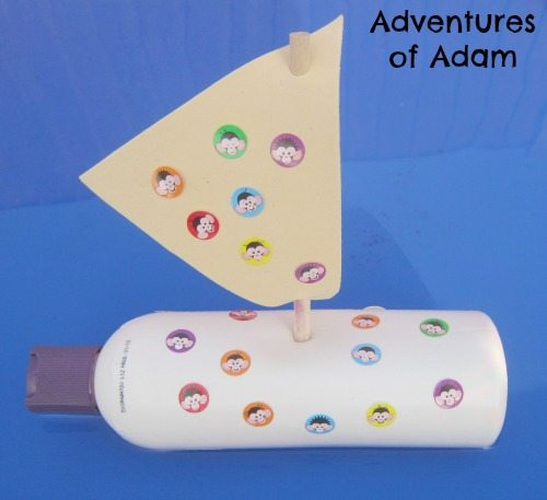 Adventures of Adam Shampoo bottle yacht