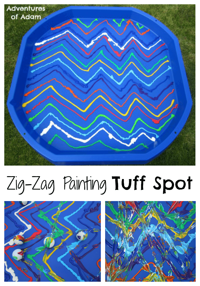 Adventures of Adam Zig-Zag Painting Tuff Spot A-Z Challenge