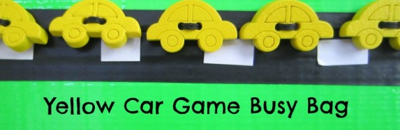 Yellow Car Game Busy Bag