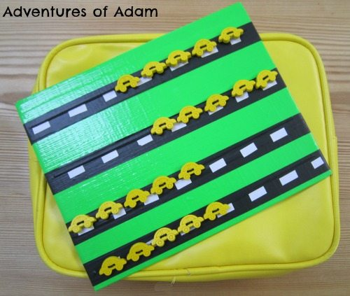 Adventures of Adam DIY Yellow Car Game board