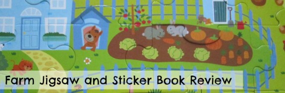 Farm Jigsaw and Sticker Book Review