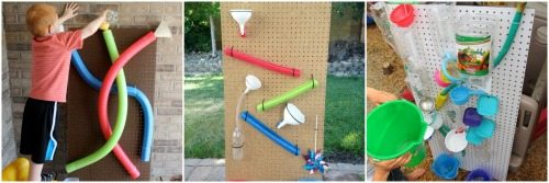 Peg board water walls