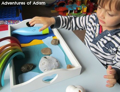 Adventures of Adam Toddler storytelling basket