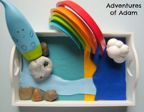 Adventures of Adam Water cycle storytelling basket