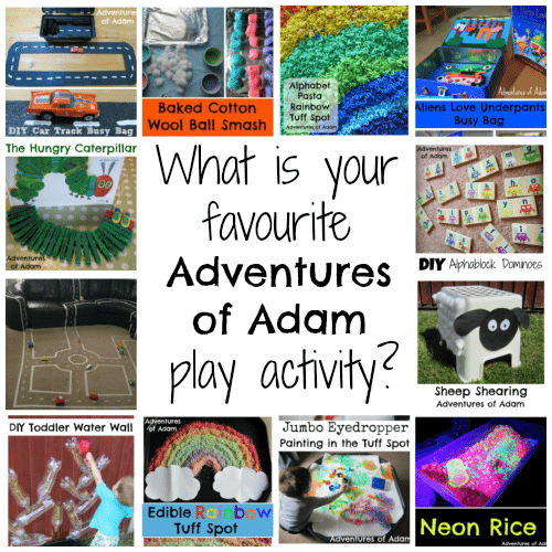 What is your favourite Adventures of Adam play activity