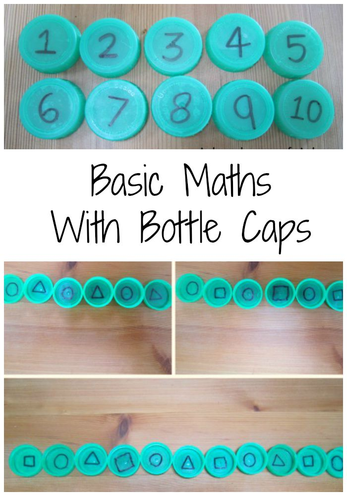 Basic maths with bottle caps Adventures of Adam