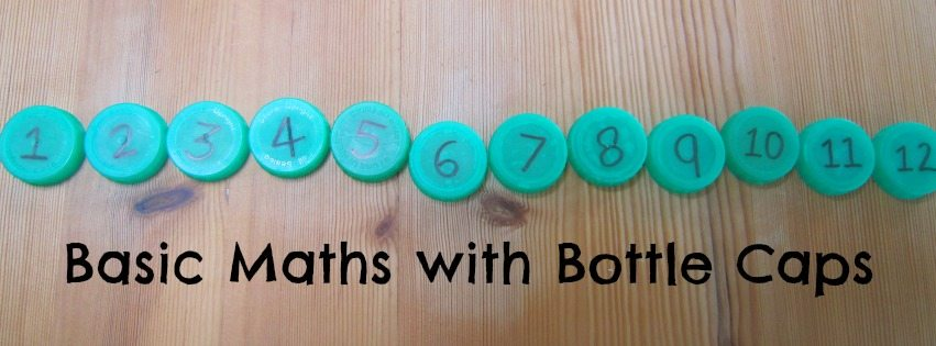Adventures of Adam Basic maths with bottle caps