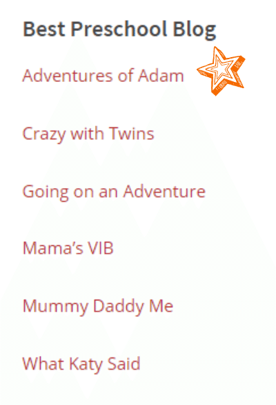 Adventures of Adam Best Pre School Blog