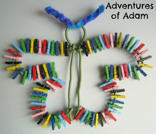 Adventures of Adam Butterfly made from pegs