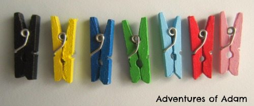 Adventures of Adam Mini coloured pegs