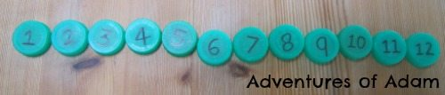 Adventures of Adam Ordering milk bottle top numbers