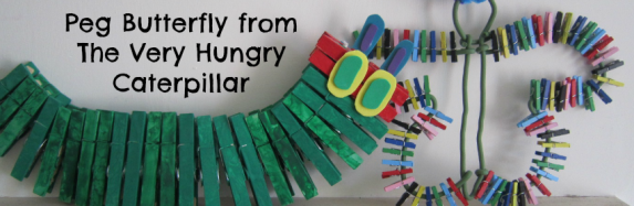 Peg Butterfly from The Very Hungry Caterpillar
