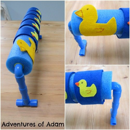Adventures of Adam Pipe Pieces and a pool noodle